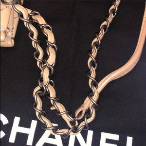 CHANEL Bags - SALE❗️Authentic CHANEL Beige Tote with Bag Charm